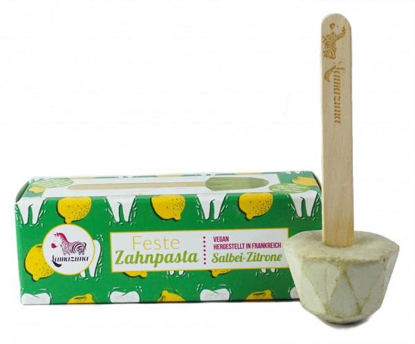 Feste Zahnpasta - Salbei-Zitron