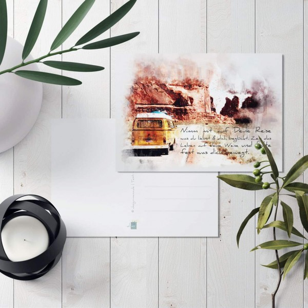 "Postkarte ""Reisen"""