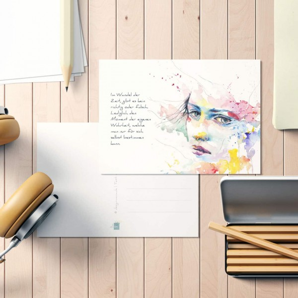 """Postkarte """"Wandel der Zeit"""""""